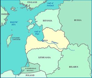 Map of Eastern Europe