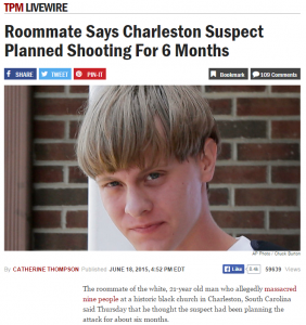 South Carolina Shooting – The Mathematics of Domestic Terrorism