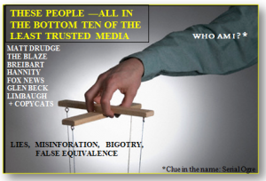 WHO IS THE PUPPET MASTER?  PROFITIZING HATE, PERVERTING TRUTH, PROMOTING PARANOIA.