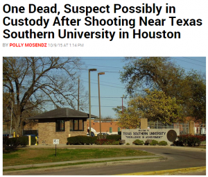 Shooting near a Texas Southern University in Houston