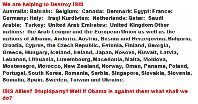 Virtually every country is against the threat of ISIS