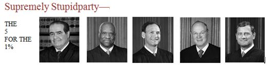 The Stupidparty Judges: The 5 for the 1%