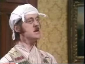 Monty Python Diaper On Head