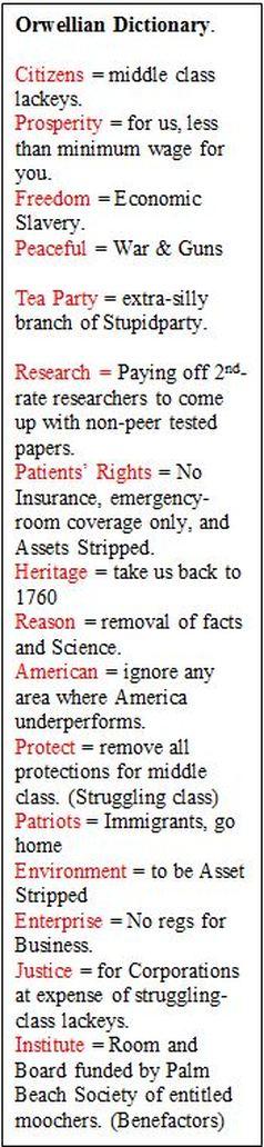 Orwellian Dictionary