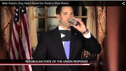 Marco Rubio Drinking Water Speech