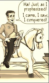 Mitty Romney on Horseback