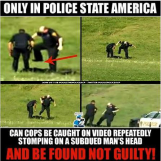 Cops Caught Stomping on Person's Head