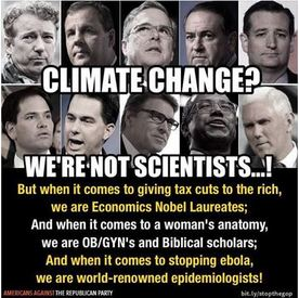 "Climate Change Denial ""We're Not Scientists!"""
