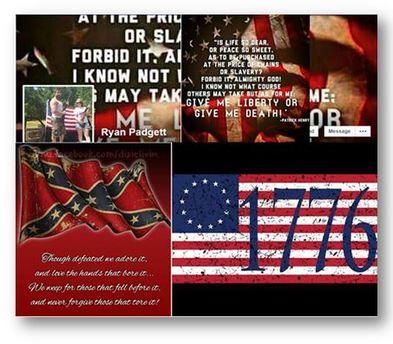 Ryan Padgett Confederate Facebook Images