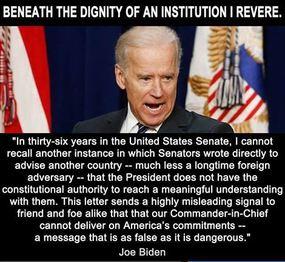 Biden Calling Out 47 Senators
