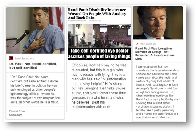 Rand Paul Uncertified Doctor