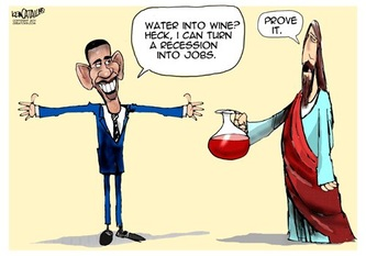 Conservative Obama Jesus Cartoon