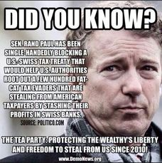 Rand Paul Protecting Tax Dodgers