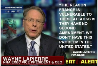 Wayne Lapierre France Guns Comment