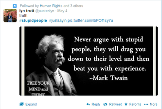 Mark Twain Stupidity Quote