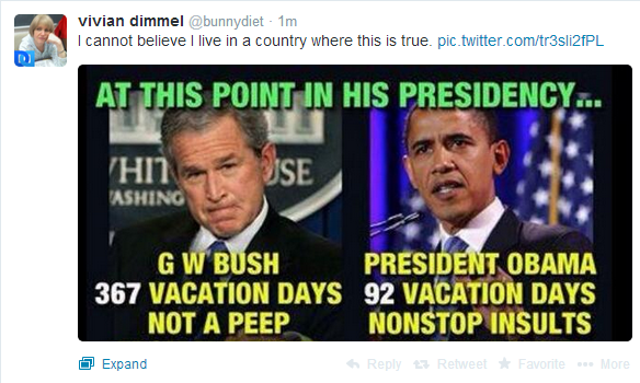 Bush vs. Obama: Vacation Days