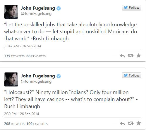 Rush Limbaugh's Racist Statements