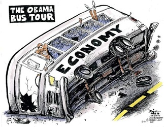 Conservative Obama Economy Cartoon