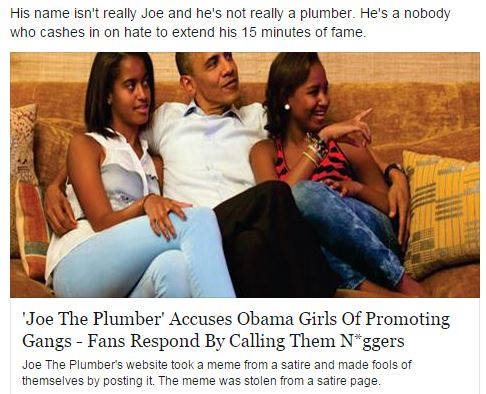 'Joe the Plumber' Attacks Obama's Daughters