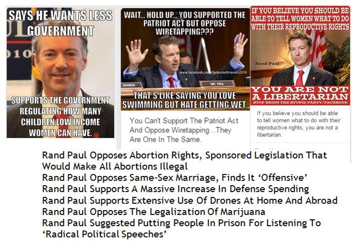 Rand Paul Hypocrisy