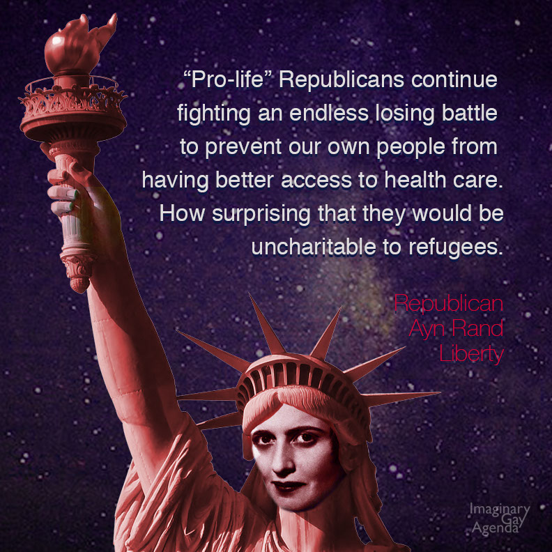 The fight against refugees mirrors that of the Stupidparty fight against better access to healthcare.