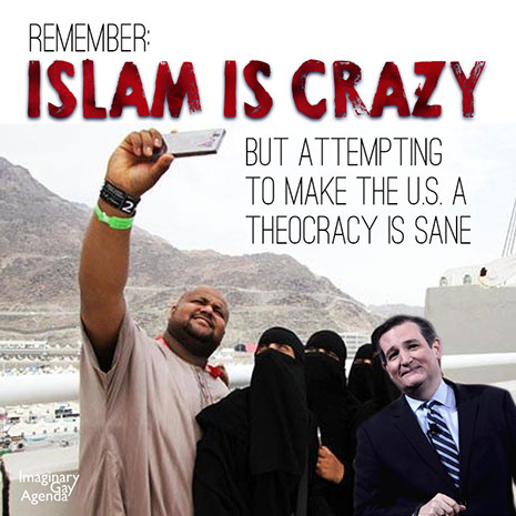 A nation built upon Islam is insane to the Stupidparty, yet a nation built upon Christianity is righteous.